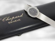 Armbanduhr: vintage Schmuckuhr mit Brillant-Lünette, aus dem Hause Chopard, insgesamt ca. 0,54ct,