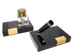Schreibgerät/Füllfederhalter-Zubehör: vintage Montblanc, Podest mit Halterung für Füllfederh