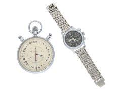 Taschenuhr/Armbanduhr: Konvolut von 2 russischen Uhren, dabei ein schöner vintage Flieger-Chrono
