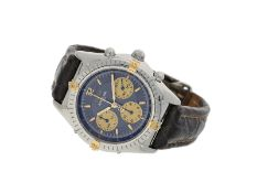 Armbanduhr: sportlicher Automatic-Chronograph, Breitling Ref. B300.11 Stahl/Gold mit Originalpapi
