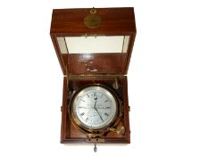Marinechronometer: seltenes Thomas Mercer Chronometer No. 15966, mit Doppelbox, ca. 1935