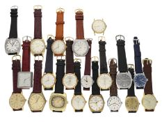 Armbanduhr: Großes Konvolut vintage Herrenuhren, Fundgrube, ca.1940-1980