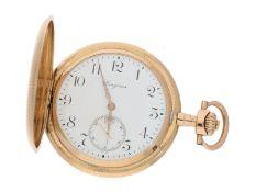 Taschenuhr: feine und wenig benutzte 14K Longines Goldsavonnette, ca. 1900