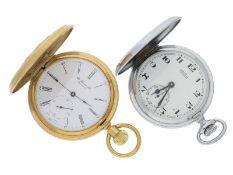 Taschenuhr: Konvolut von 2 vintage Taschenuhren, Tissot und Arsa, inkl. einer Uhrenkette