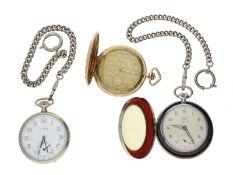 Taschenuhr: Konvolut von 3 Taschenuhren inklusive 2 Uhrenketten
