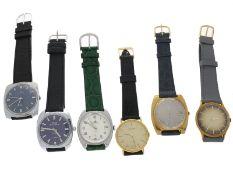 Armbanduhr: Konvolut von 6 vintage Herrenuhren