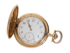 Taschenuhr: besonders schwere rotgoldene Savonnette, IWC Schaffhausen No.347079, ca. 1905