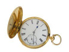 Taschenuhr: qualitätsvolle frühe Savonnette, ehemaliger Adelsbesitz, signiert H.Connell Glasgow