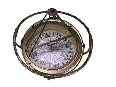 Marine/Nautik/Nautiquität: äußerst dekorativer, großer Kompass