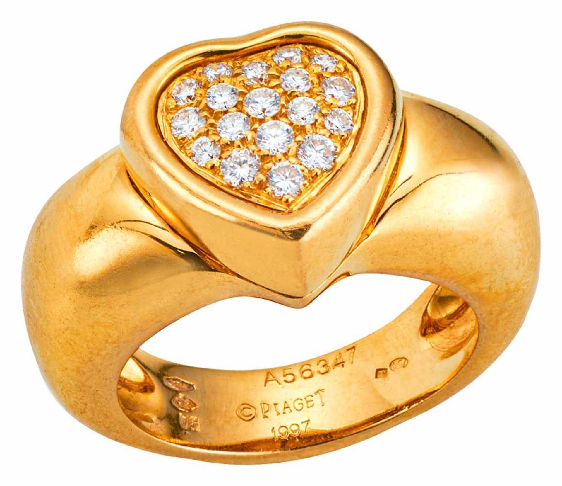 Piaget Herzring mit Diamantpavé
