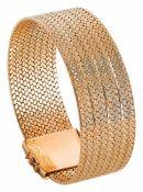 Goldarmband mit verdecktem Kastenschloss