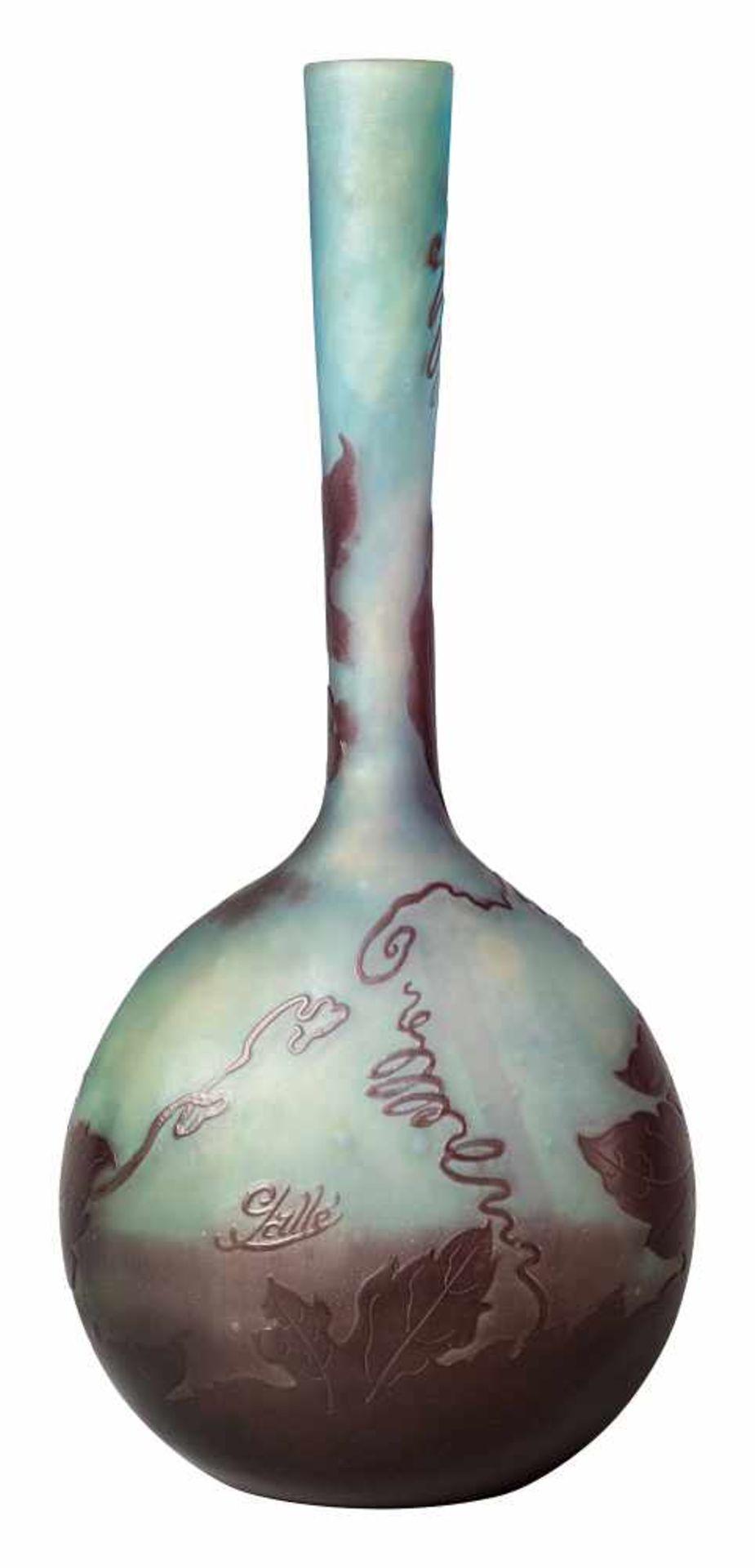 Gallé Langhalsvase «Vigne Vierge» - Bild 2 aus 3