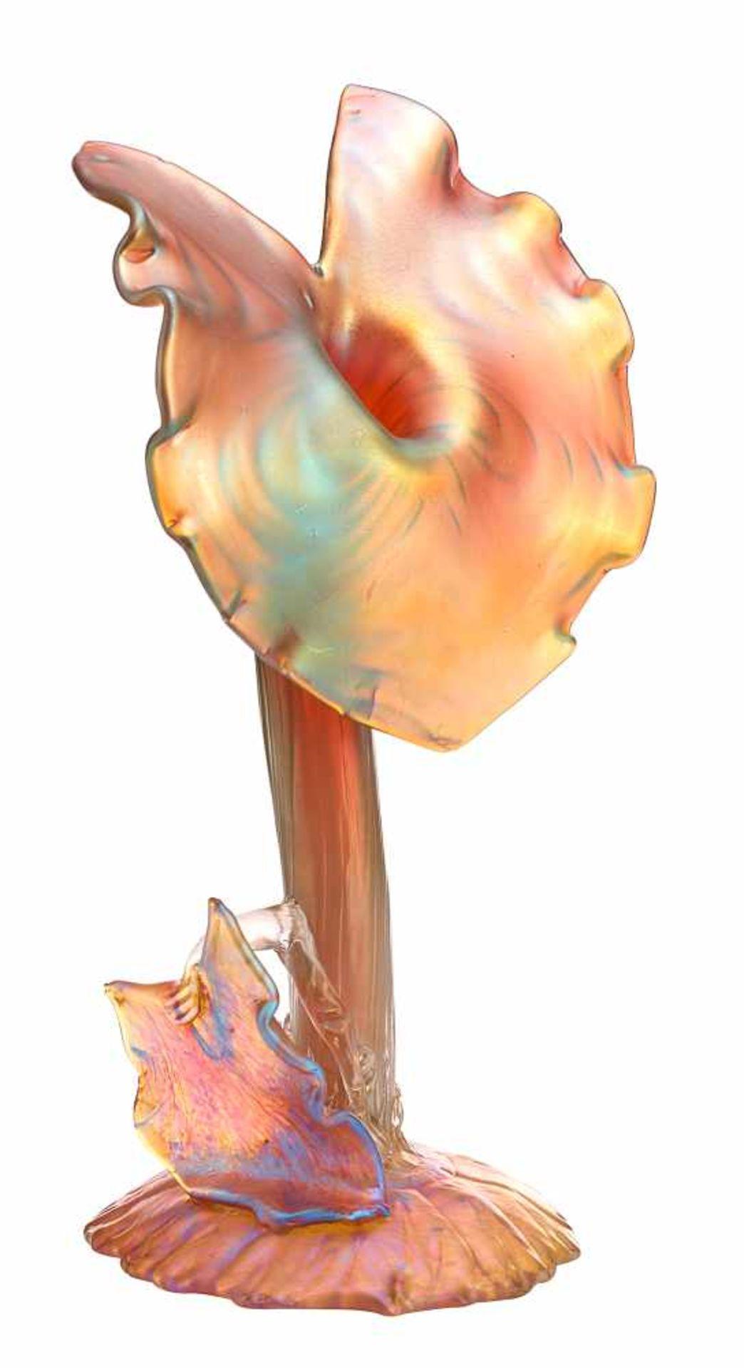 Ziervase mit Blattwerk «Candia Silberiris»