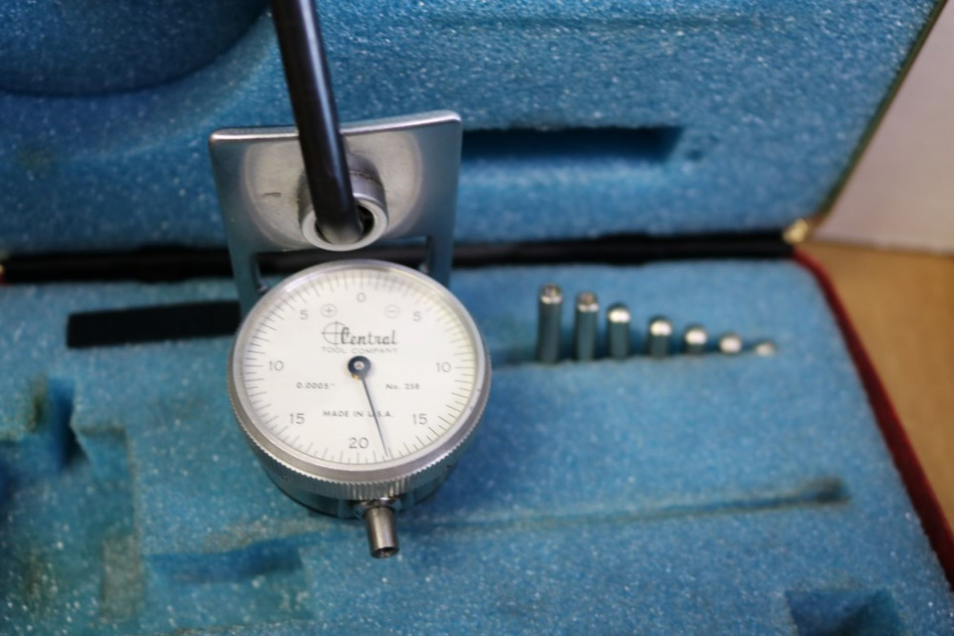 """Lot 49 - Central Tool Company Dial Bore Indicator with Attachments and Fowler .7"""" - 1.5"""" Dial Bore Indicator"""