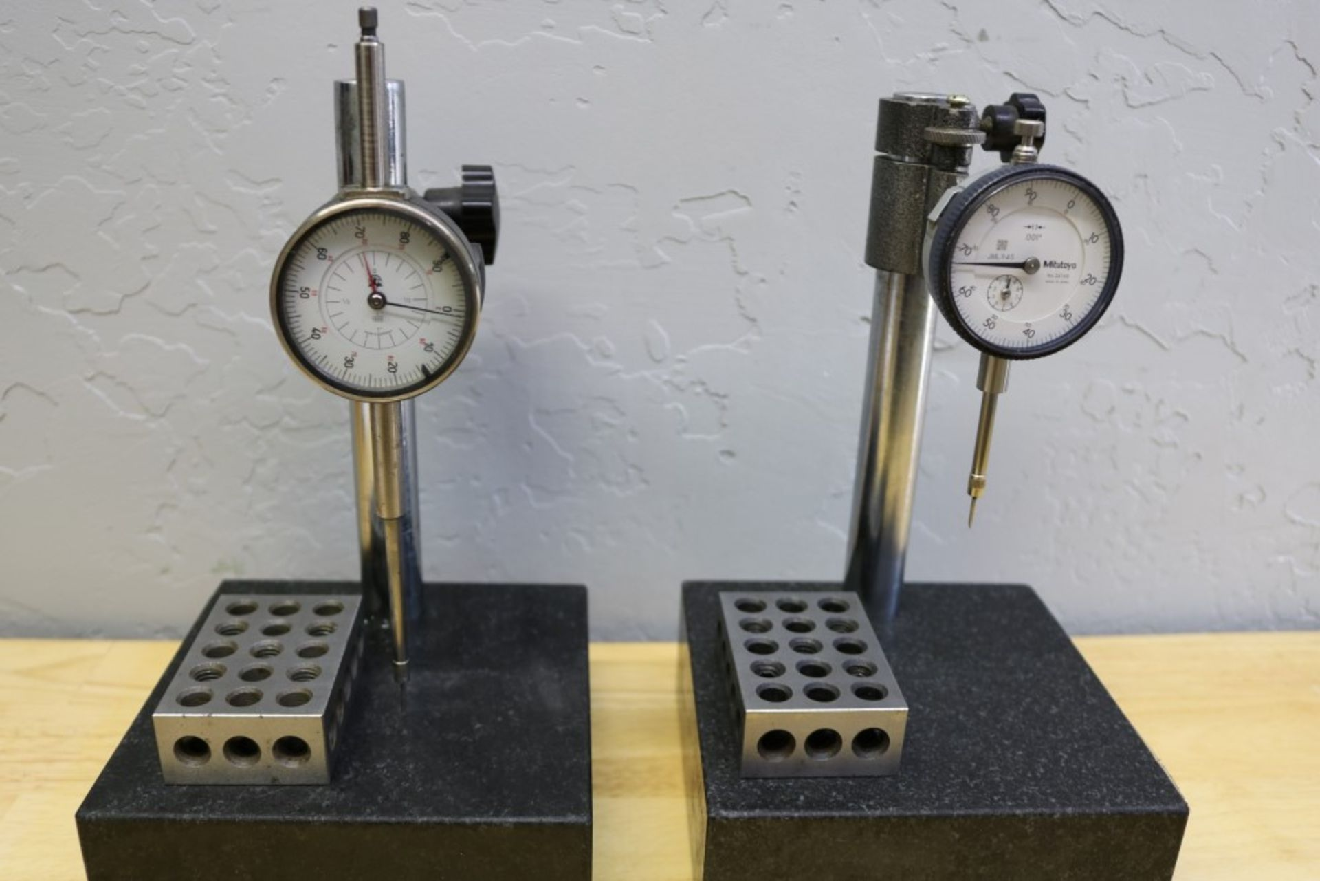 """Lot 29 - (2) Height Stand with Granite Surface Plate, Mitutoyo Drop Gage 1"""" and Height Stand with Granite"""