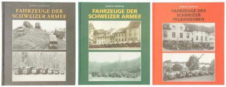 Konvolut von 3 Bänden über Fahrzeuge der CH-Armee und der Feuerwehr<b