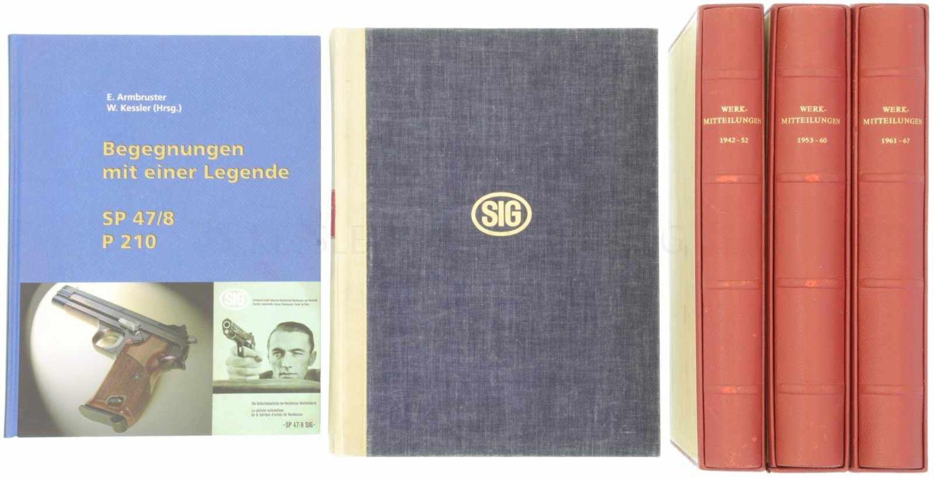 Konvolut von 5 SIG-Büchern<
