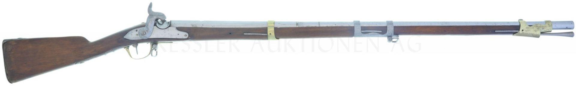 Perkussionsgewehr, Infanterie 1804/42, (franz. 1777), Kant. Bern, Kal. 17.6mm