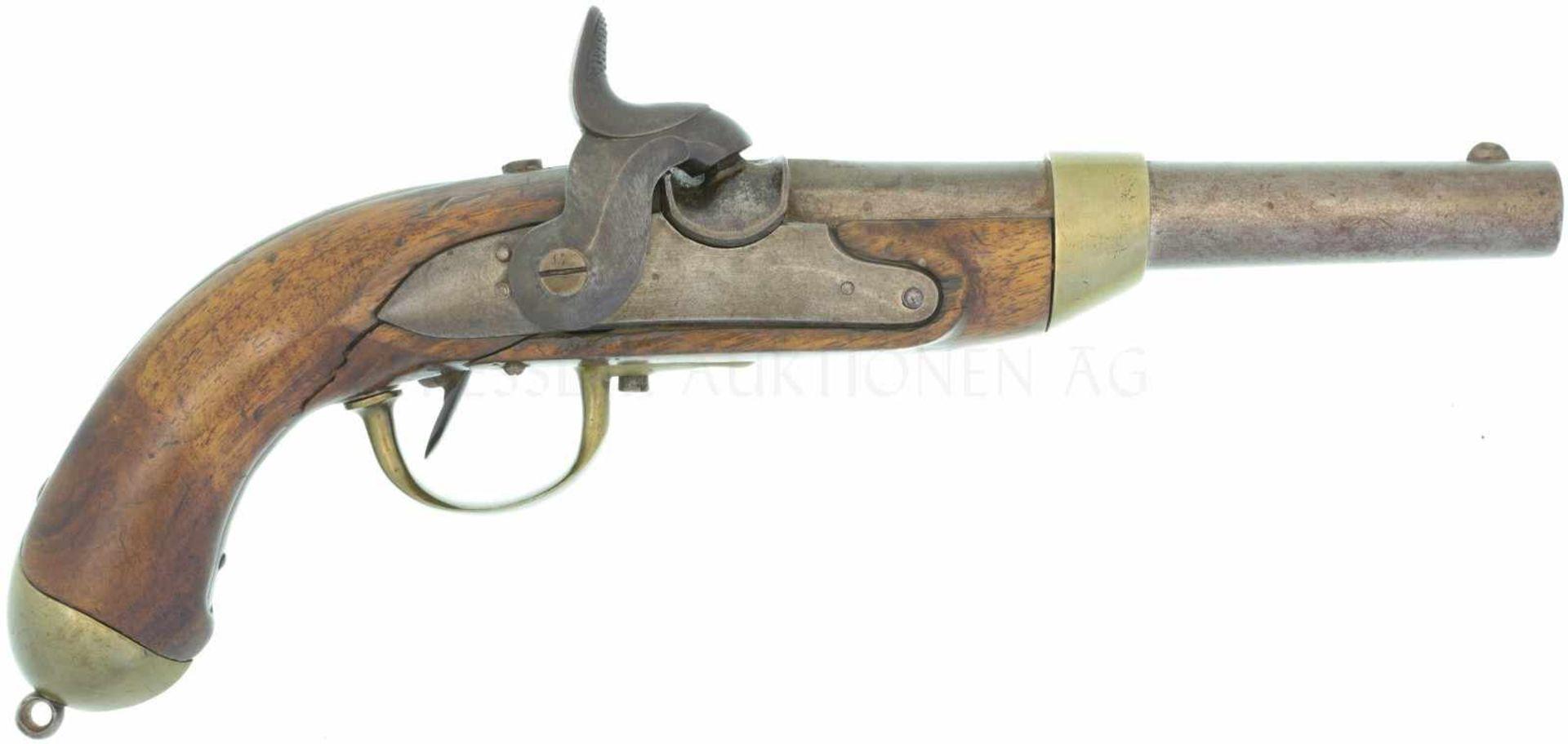 Perkussionspistole, Mod. 1817/42, Kt. AG, Kal. 17.6mm
