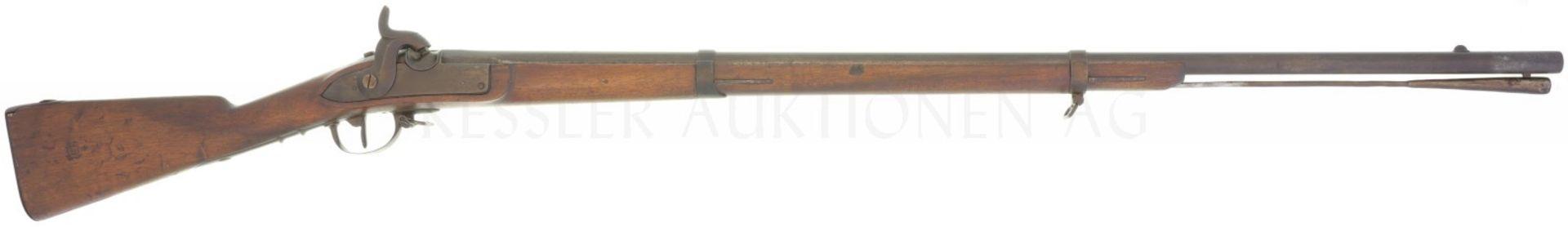 Perkussionsgewehr, Infanterie 1842, Hersteller unbekannt, Gemeindegewehr Kt. Tessin, Kal. 17.6mm