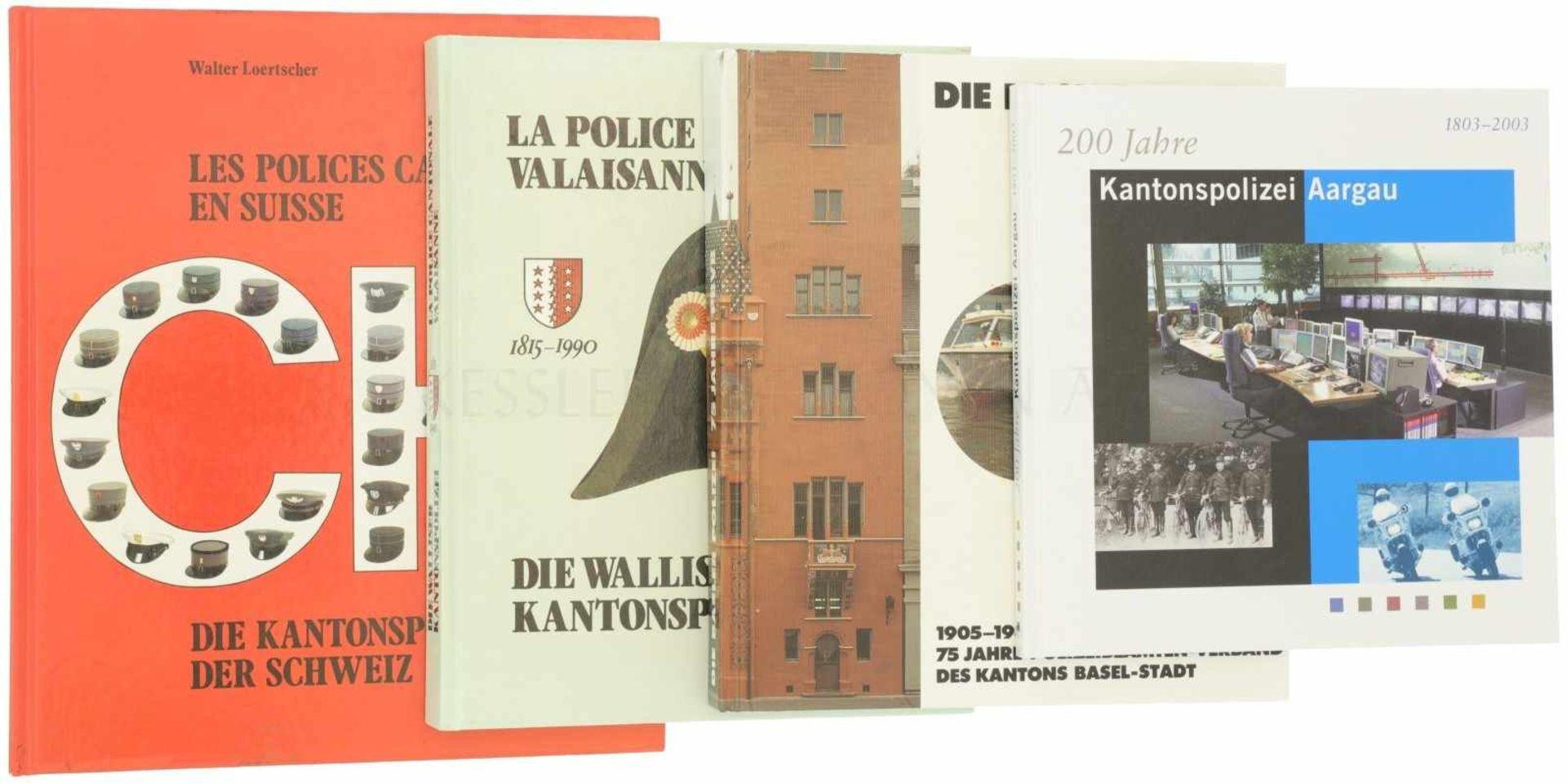 Konvut 4 Bücher Kantonale Polizeicorps<