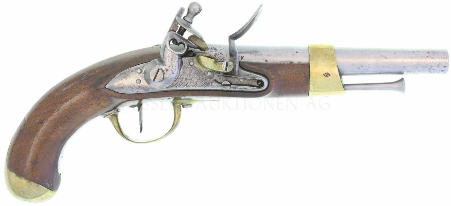 Steinschlosspistole, Mod. An 13, Kavallerie, Kal. 17,6 mm