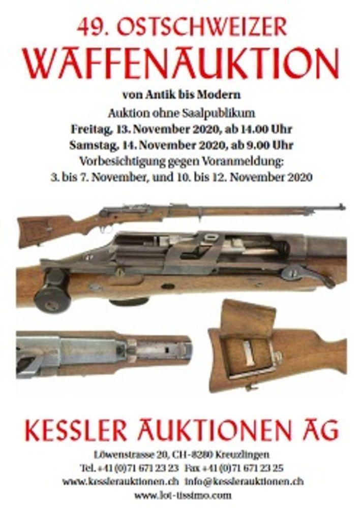 49. Ostschweizer Waffenauktion von antik bis modern