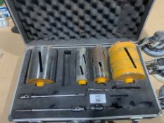 Cased set of Core Drills