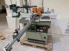 SCM T110A Spindle Moulder with Tennon Attachment and Steff 34 Power Feed
