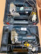 2 x Cased Bosch GST 80 PBE Jigsaws