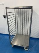 Stainless steel laundry style trolley 170 x 80cm