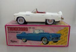 """Fifties Japan, Oldtimer """"Thunderbird"""", Type 1956, Blech, 50's Tokyo, unbespielt, im OK, l."""