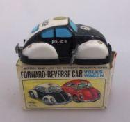 Blechspielzeug, VW Käfer - Polizei, Blech / Kunststoff, Yone - Made in Japan, im OK,