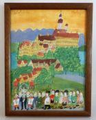 """Raffler, Max (1902 - 1988 Greifenberg am Ammersee), Aquarell auf Papier """"Kloster Andechs"""","""
