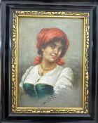 Marastoni, Giacomo (1804 Venedig - 1860 Pest / Ungarn), Öl/Lw., Halbportrait einer