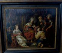 "Gemälde, Niederlande 17.Jh., unbekannter Künstler, Öl / Leinwand, 80cm x 66cm, ""Isaac"