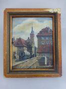 Schnackig, Ernst (*1907 Würzburg), Würzburger Künstler u. Bühnenmaler, Öl/Malpappe, Blick