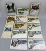 Sammlung Ansichtskarten, meist Deutschland um 1900, meist Lithografien / Gruss aus.., u.a.