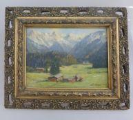 Dederich, Josef (Bleibuir/Eifel 1873 -1958 Köln), Öl/Holz, Ansicht von Schwandt im Allgäu,