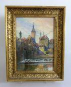 Schöner, August (Würzburger Maler), tätig 1.H.20.Jh., Aquarell, Blick auf die Alte