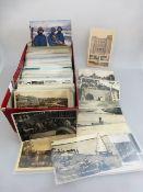 Sammlung Postkarten, über 380 Stück, darunter Topographie, Glückwunsch u. Künstlerkarten,
