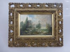 Heinrich, E., Münchner Schule, kleines Tafelgemälde m. Figurenstaffage, Öl/Holz,