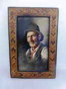 Giardello, Giuseppe (1877 - 1920 Neapel), Portait eines Fischers, Öl/Holz, u. li. schwach