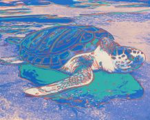 Andy Warhol 1928 Pittsburgh - 1987 New York Turtle. 1985. Farbserigrafie. Feldman/Schellmann/Defendi