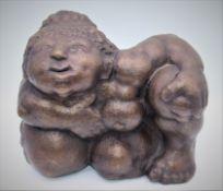 "Skulptur - Rudolf Schwaiger (1924 Ebensee - 1979 Wien) ""Magdalena"", Bronze, signiert, Nr. 2/6,"