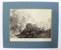 """Lithographie - Max Joseph WAGENBAUER (1775 Öxing -1829 München) """"Eine Gegend in Oberbaiern"""", um"""