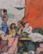"Gemälde - Max Wissner (1873 Geiersberg/Böhmen - 1959 Regensburg) ""Harem mit rotem Vorhang"", siehe"