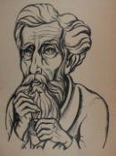 """Lithographie - Georg Philipp Wörlen (1886 Dillingen - 1954 Passau) """"Bildnis"""", r.u."""