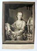 "Mezzotinto - Johann JACOBÉ (1733 Wien 1797) ""Bildnis des Astronomen Wolfgang Christoph von"