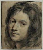 """Zeichnung - niederländischer Spätbarock """"Barockes Herrenbildnis (Ähnlichkeit mit dem Kunsthändler"""